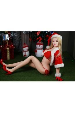 Brenda Chrismas Sweet Girl Liebespuppe Echt Silikon Erwachsene Sex Doll für Männer